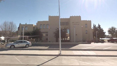 A picture of the front of the Eddy County Courthouse
